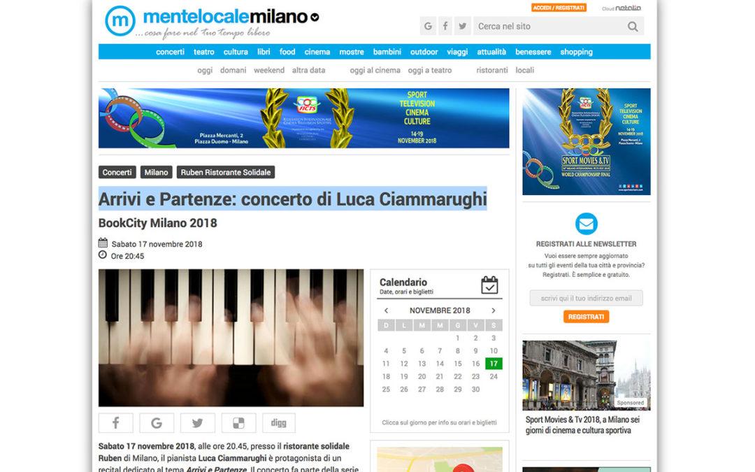 ClassicAperta: MenteLocaleMilano – Arrivi e Partenze: concerto di Luca Ciammarughi
