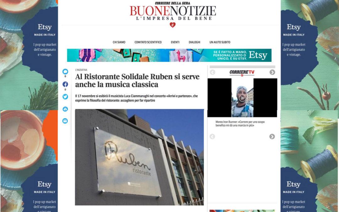 ClassicAperta: Corriere Buone notizie – Al Ristorante Solidale Ruben si serve anche musica classica