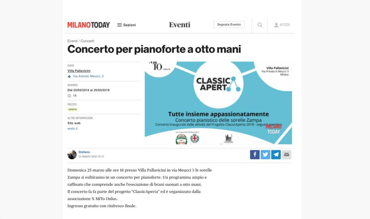 Rassegna Stampa 2018 Associazione per MITO Onlus - ClassicAperta
