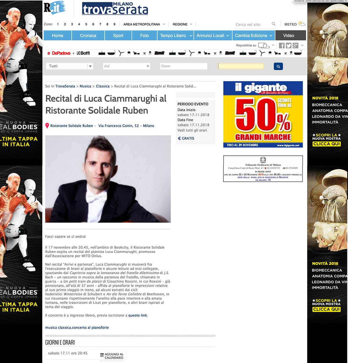 ClassicAperta: Repubblica - Recital Luca Ciammarughi