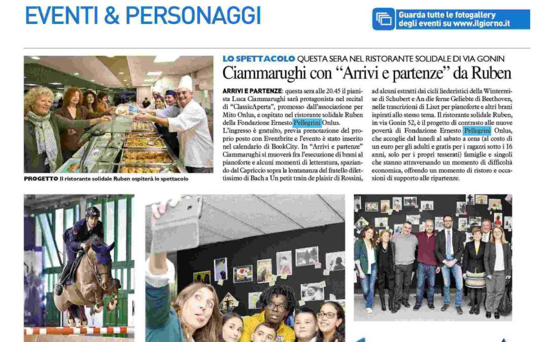"""ClassicAperta: Il Giorno – Ciammarughi con """"Arrivi e partenze"""" da Ruben"""