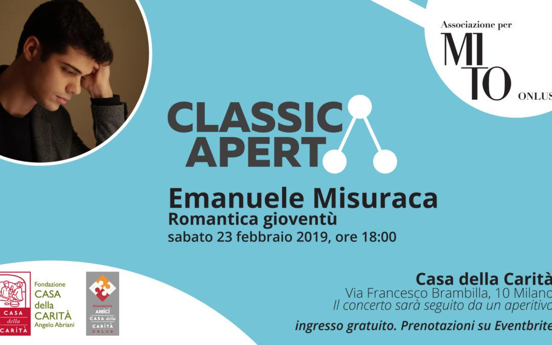 ClassicAperta: Invito Emanuele Misuraca – Romantica Gioventù