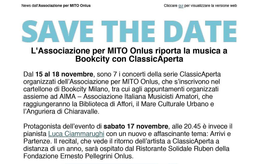 ClassicAperta: save the date Bookcity