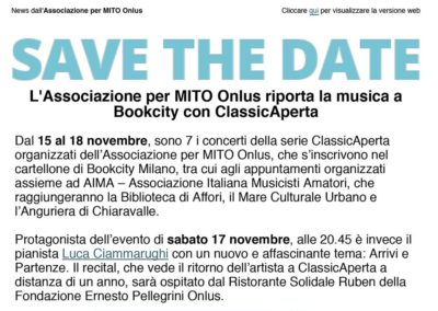 ClassicAperta: save the date Bookcity