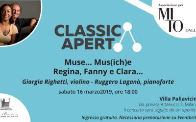 Invito: Muse… Mus(ich)e – Regina, Fanny e Clara…