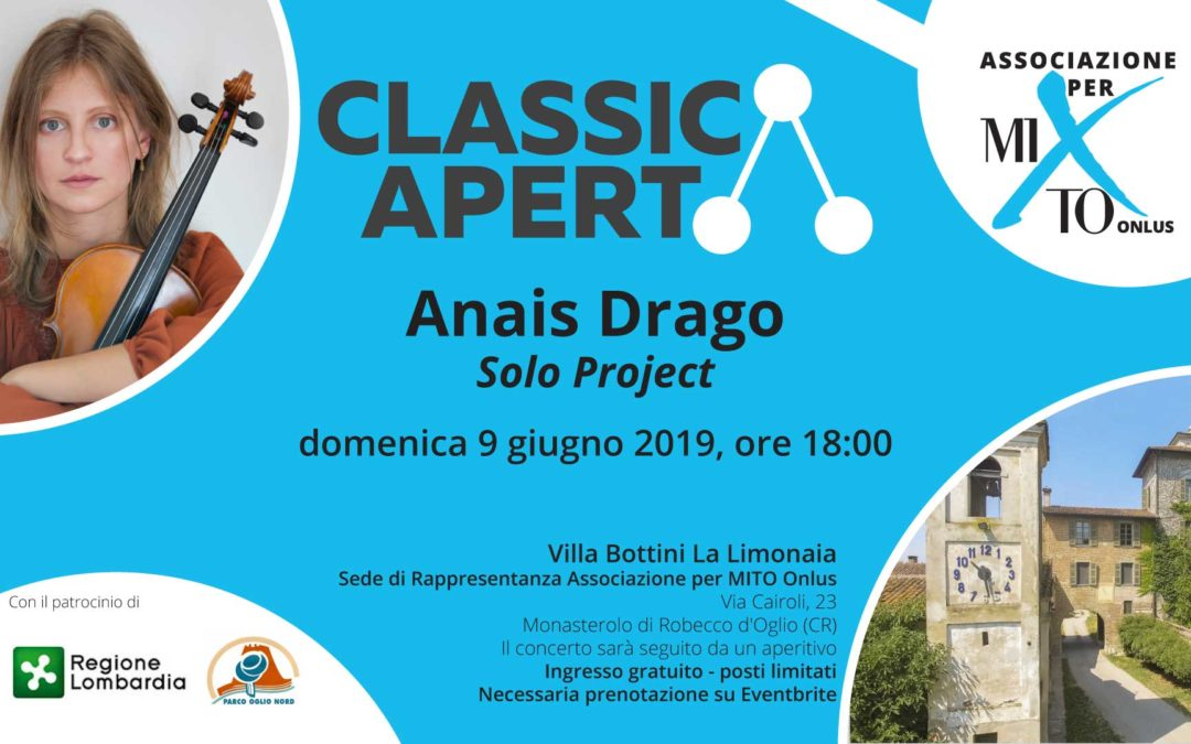 Invito ClassicAperta: Anais Drago – Solo Project
