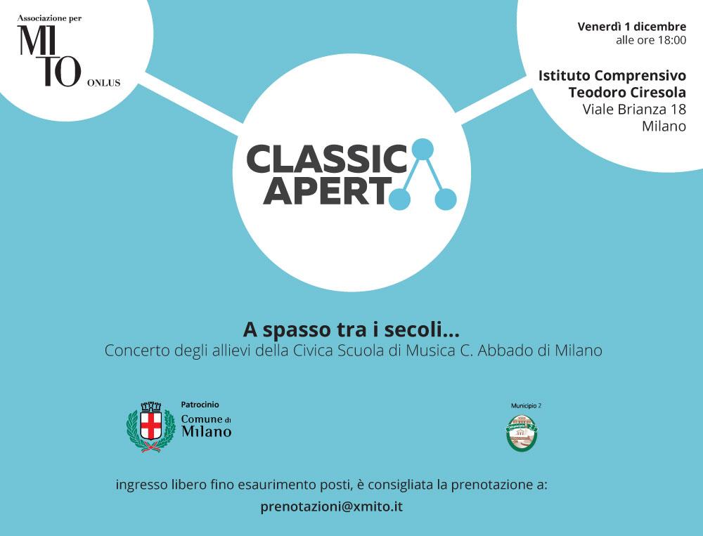 ClassicAperta: concerto degli allievi della Civica Scuola di Musica C.Abbado di Milano all'Istituto Comprensivo Teodoro Ciresola