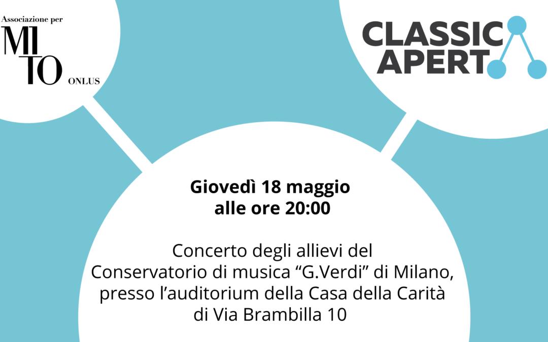 Prossimo appuntamento con ClassicAperta giovedì 18 maggio