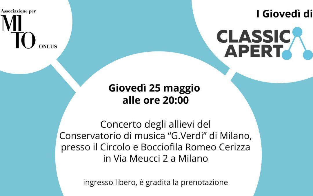 Prossimo appuntamento con ClassicAperta giovedì 25 Maggio