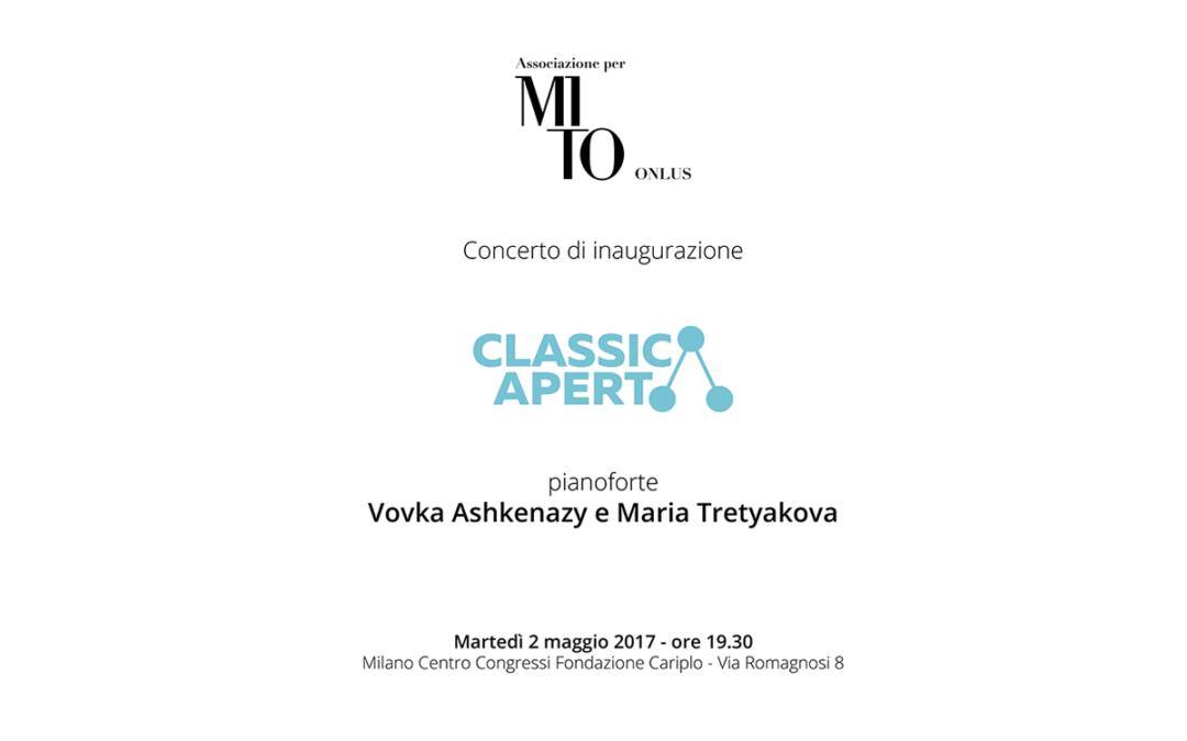 Programma di sala concerto di inaugurazione ClassicAperta