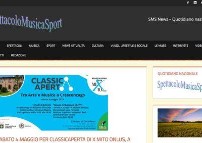 SpettacoloMusicaSport: Sabato 4 maggio per ClassicAperta