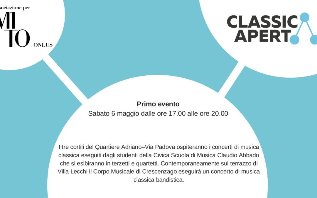 Primo appuntamento di ClassicAperta sabato 6 maggio