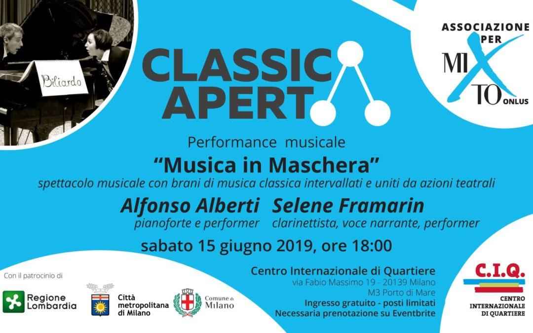 """Invito ClassicAperta: """"Musica in Maschera"""" – Alfonso Alberti e Selene Framarin"""