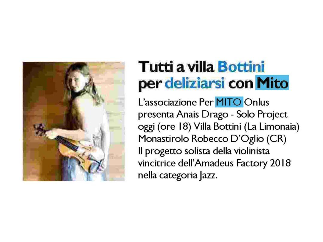 Il Giorno: Tutti a Villa Bottini per deliziarsi con Mito