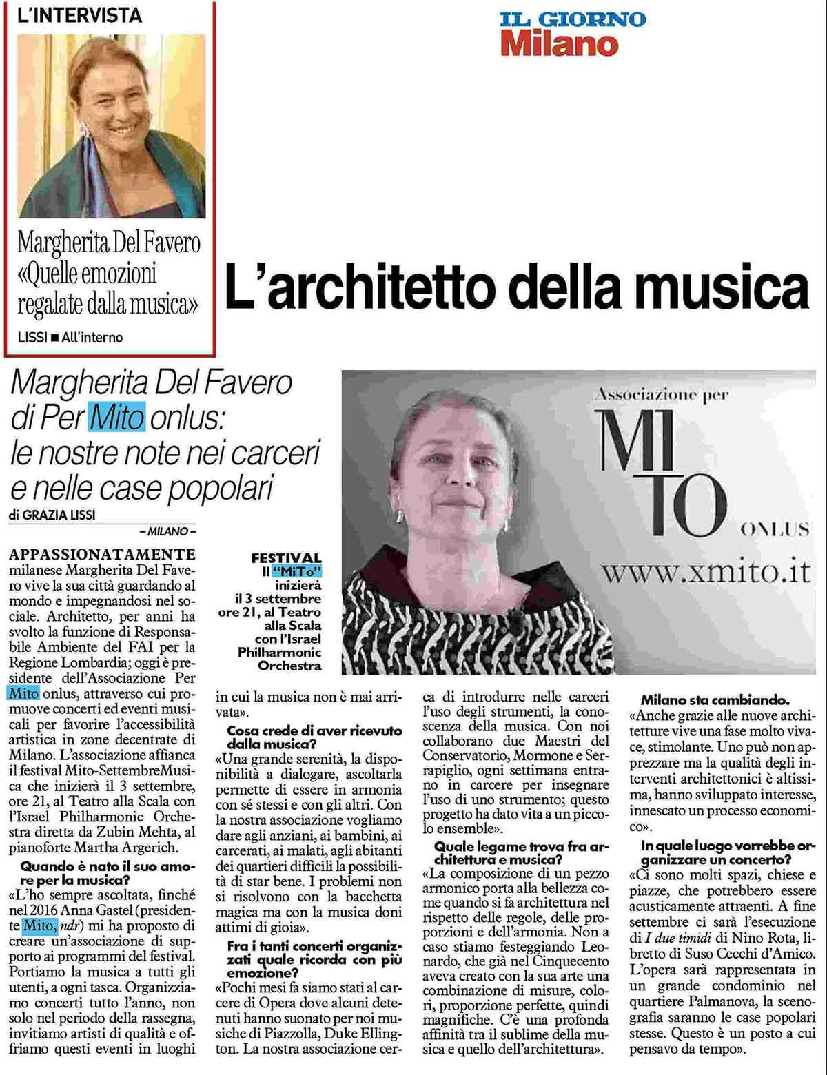 Intervista Margherita del Favero