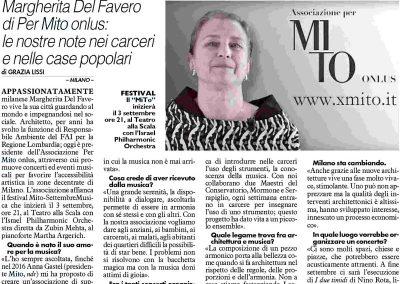 Il Giorno: intervista a Margherita del Favero