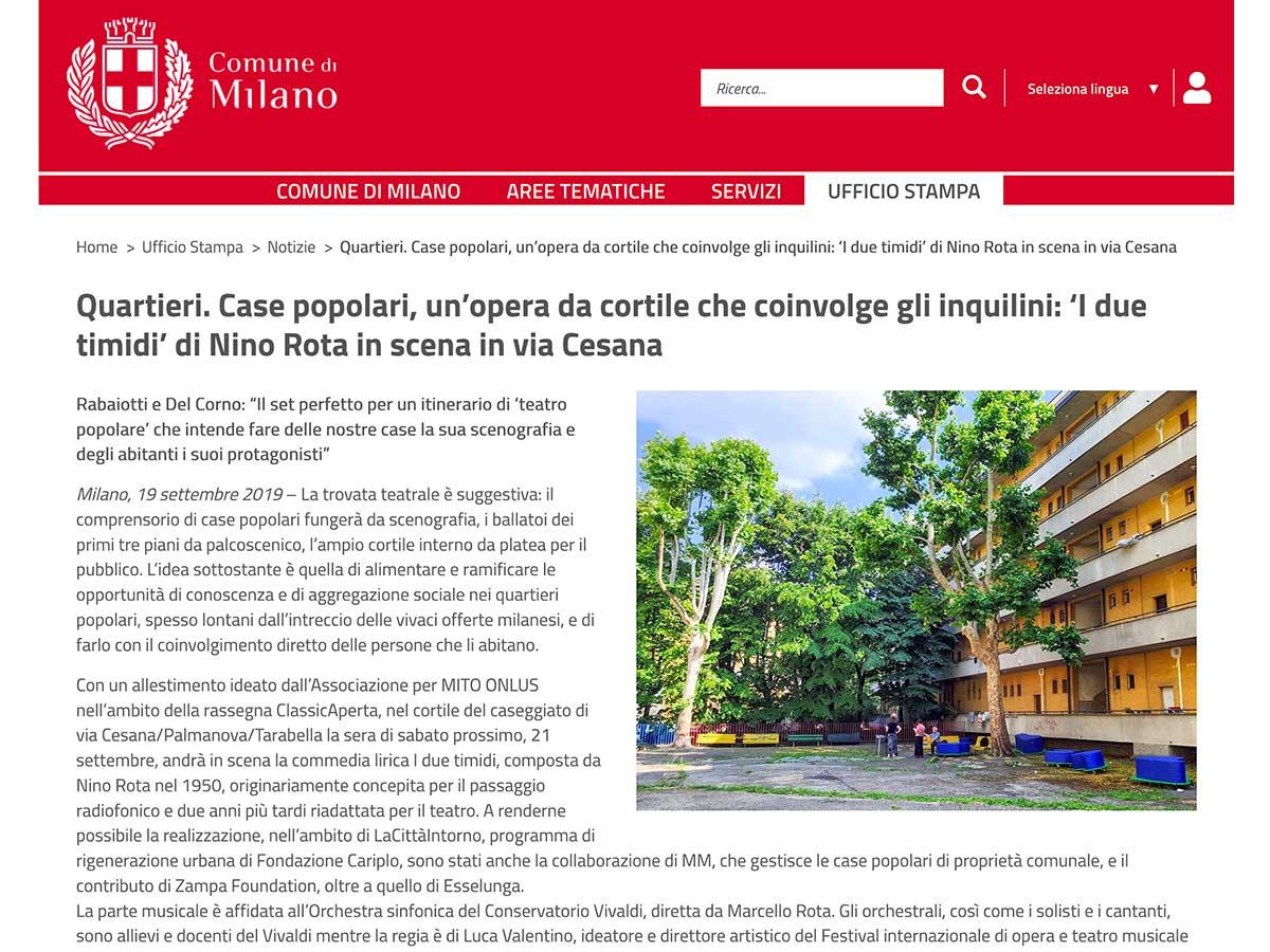 Comune di Milano - I due timidi