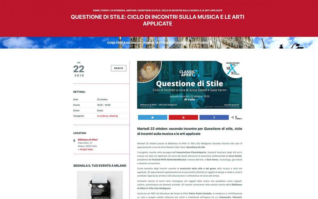 EventiAtMilano – Questione di Stile