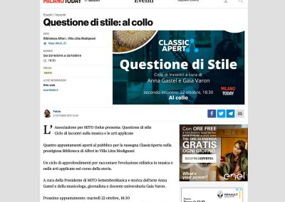 MilanoToday – Questione di Stile: Al collo