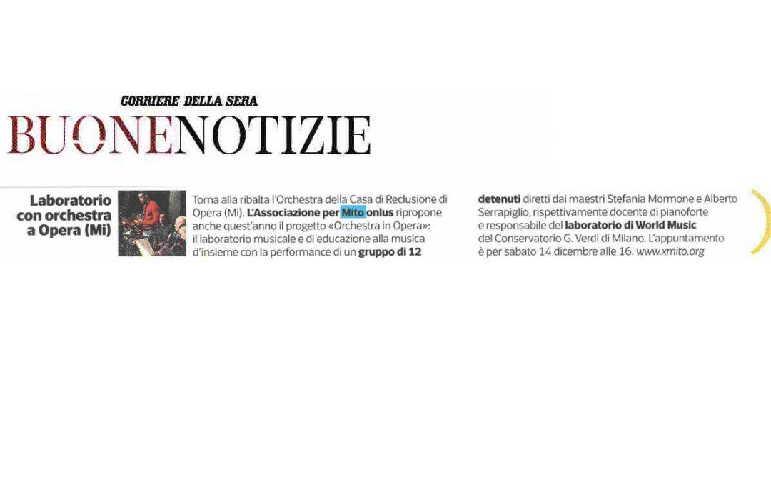 Corriere della Sera: Buone Notizie