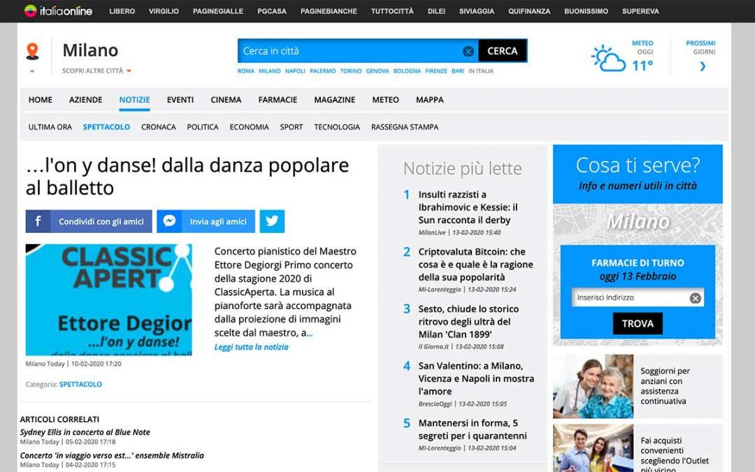 ItaliaOnline: Ettore Degiorgi