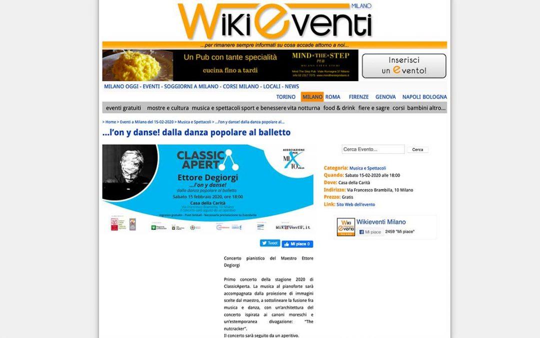WikiEventi: Ettore Degiorgi