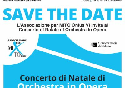2019-11-25 – Ultimi giorni per registrarsi al Concerto di Natale di Orchestra in Opera