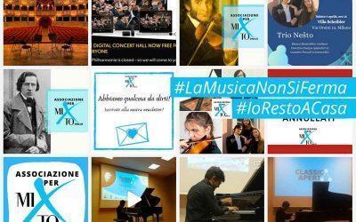 #LaMusicaNonSiFerma : concerti e opere per stare a casa