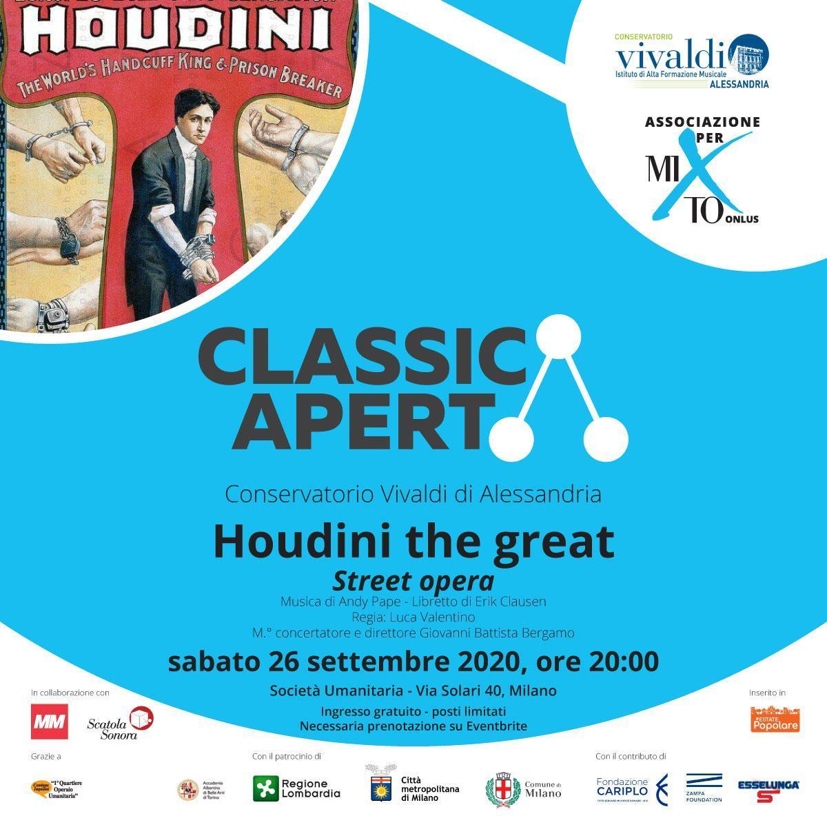 Associazione per MITO Onlus: Houdini the great - street opera