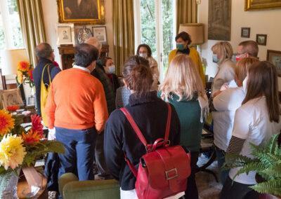 I volontari a Villa Erba