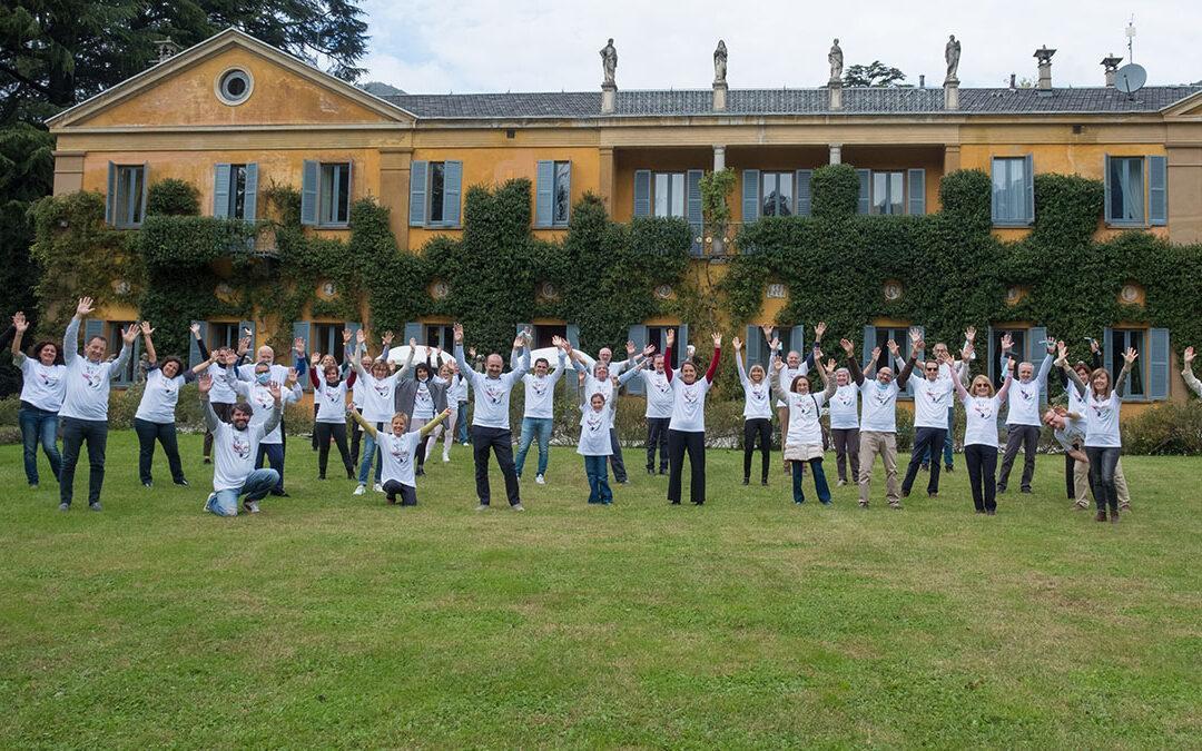 Ringraziamento volontari a Villa Erba