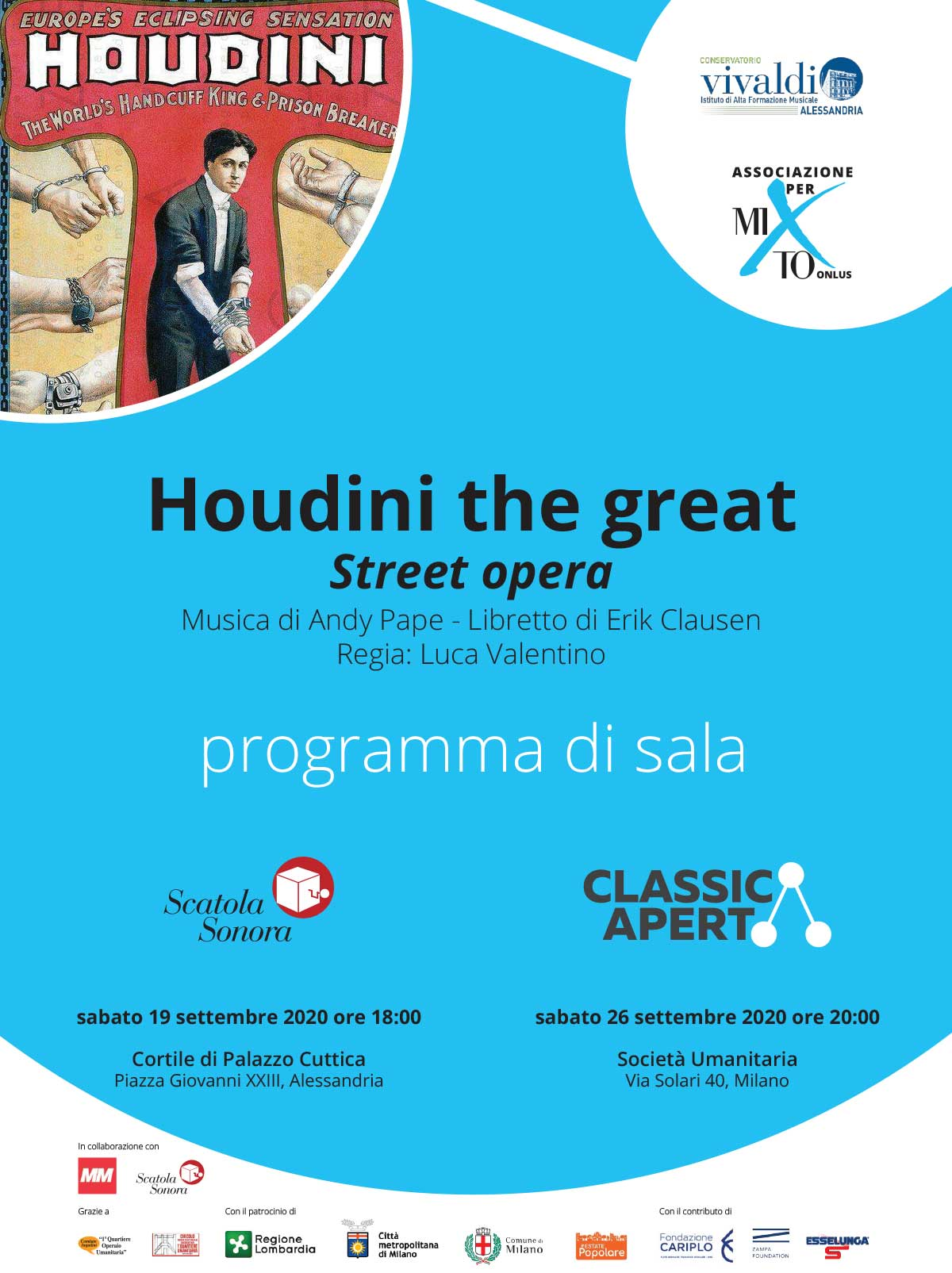 ClassicAperta: Houdini the great - programma di Sala