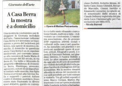 Repubblica: A Casa Berra la mostra è a domicilio