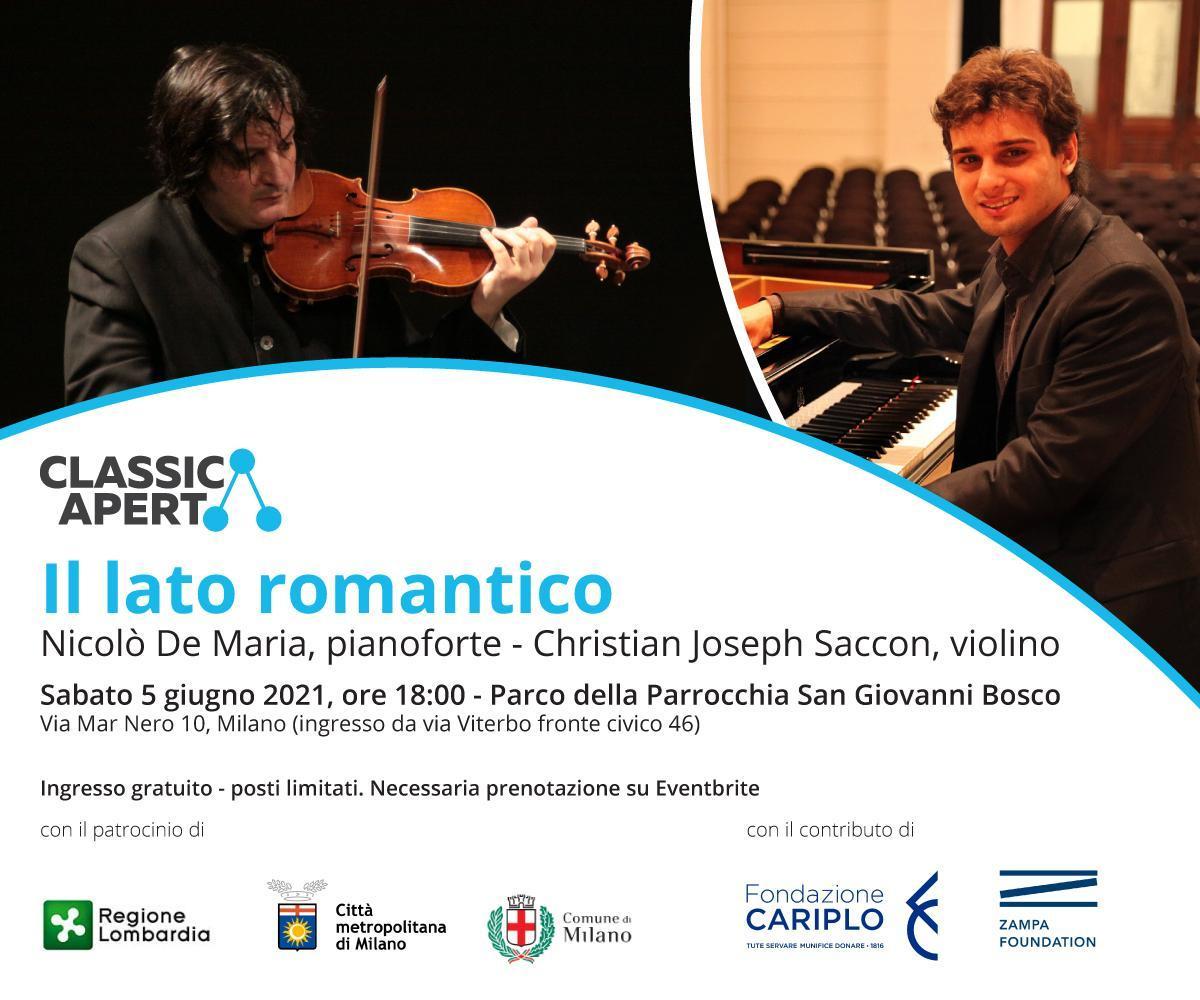 ClassicAperta - Nicolò Demaria e Christian Joseph Saccon: il lato romantico