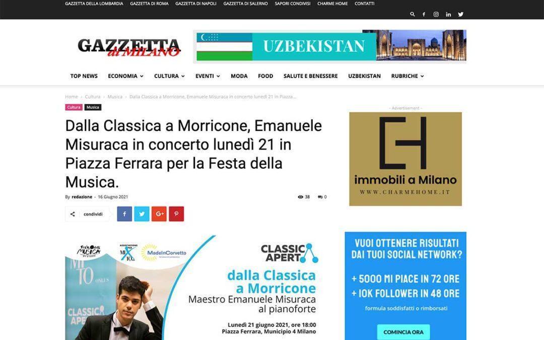GazzettadiMilano: dalla Classica a Morricone