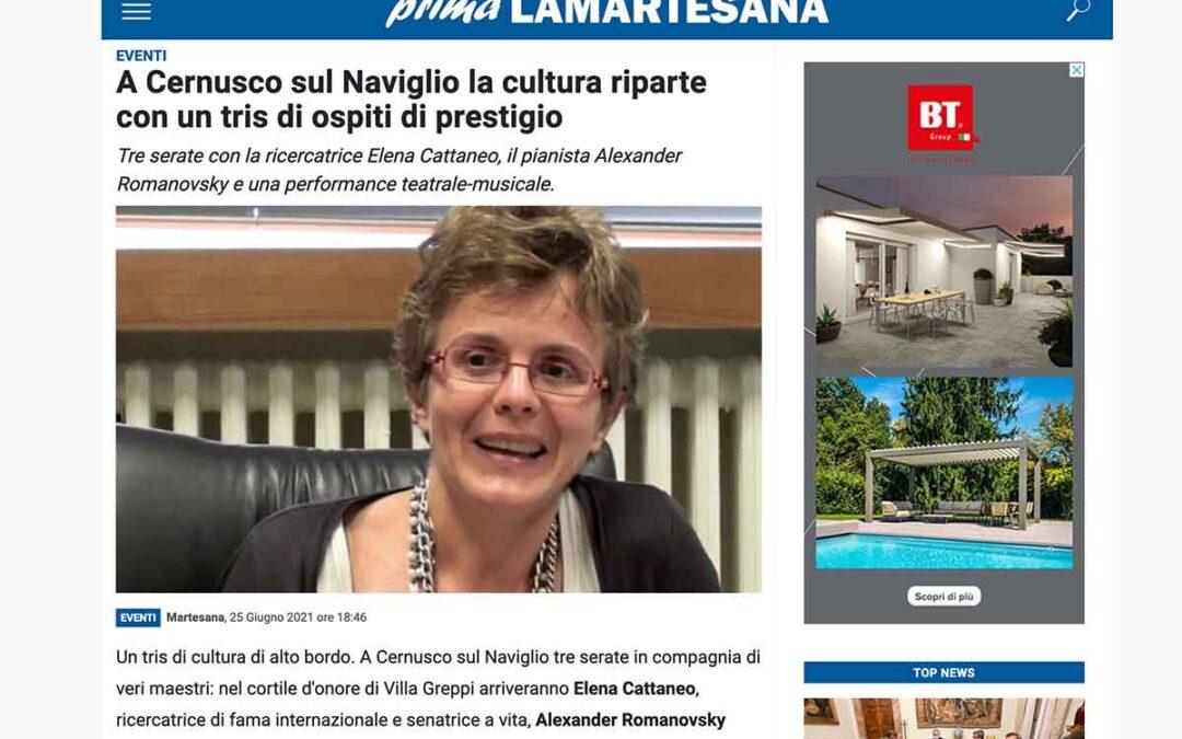 Prima la Martesana: A Cernusco sul Naviglio la cultura riparte con un tris di ospiti di prestigio