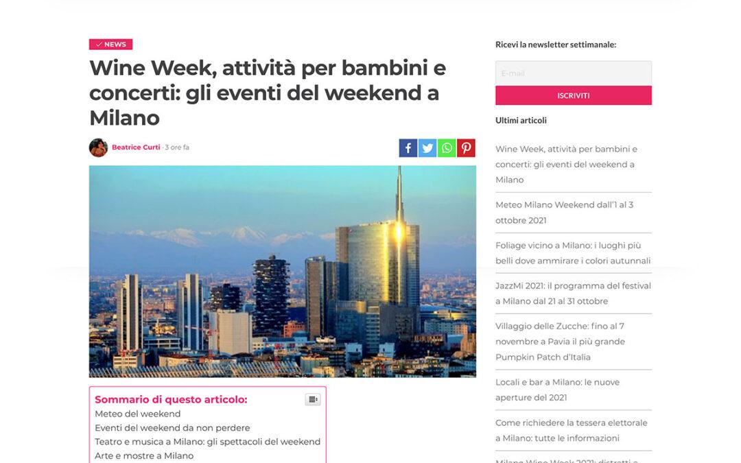 MilanoWeekend: Wine Week, attività per bambini e concerti: gli eventi del weekend a Milano