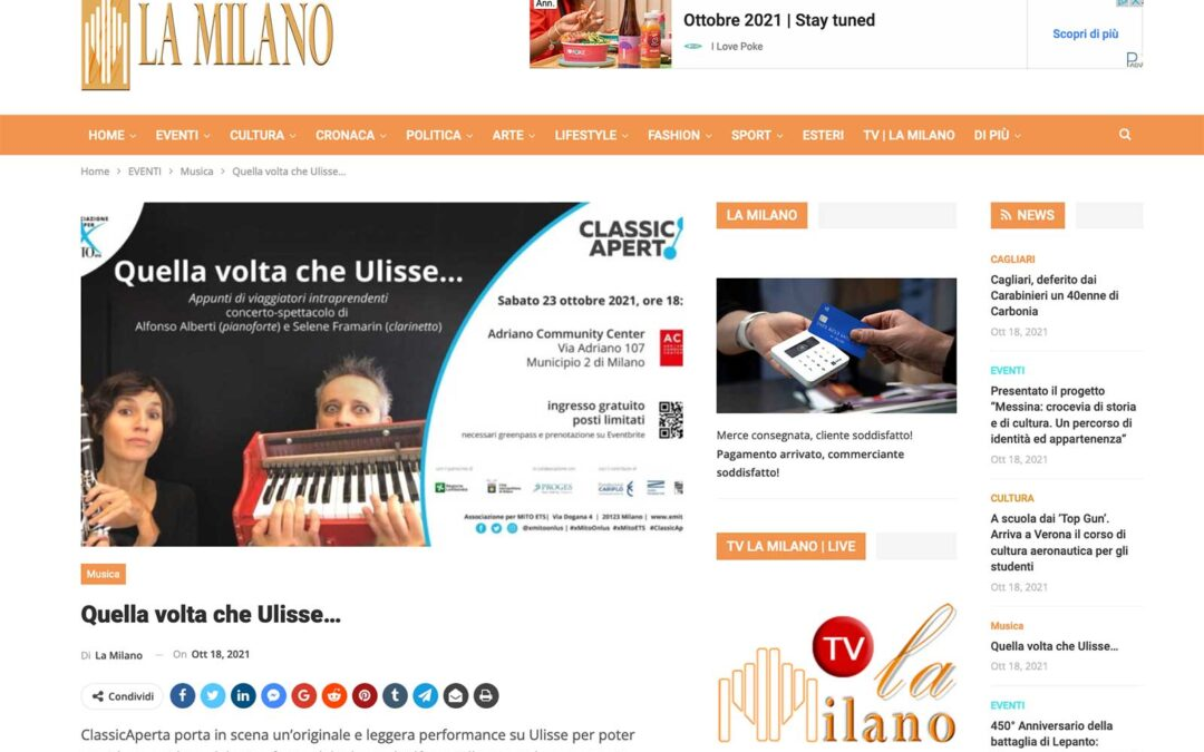 La Milano: Quella volta che Ulisse…